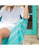 Fouta Turquoise Personnalisée