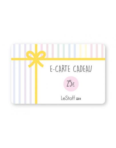 E-Carte Cadeau 25 €