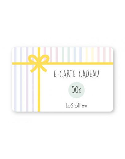 E-Carte Cadeau 50 €