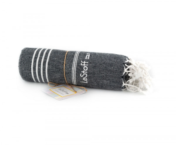 Fouta Anthracite Personnalisée